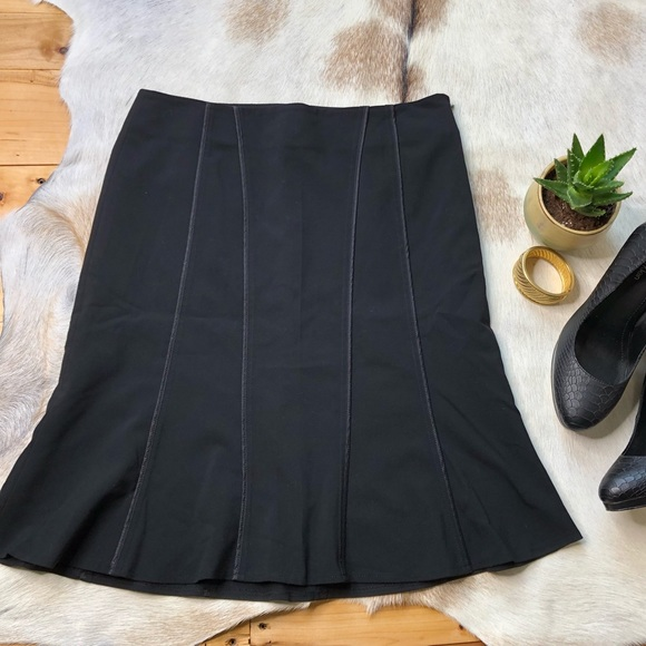The Limited Dresses & Skirts - The Limited stretch black tulip pleated skirt 6
